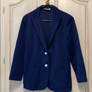 Vintage Fitted Lightweight Navy Blue Blazer